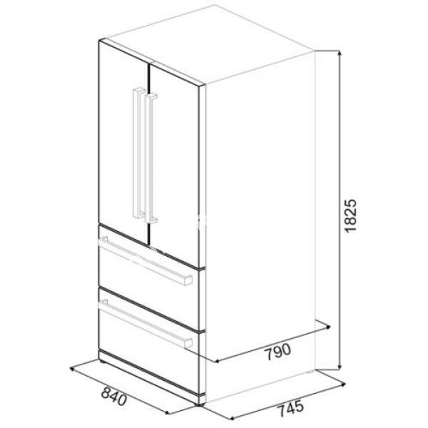 r frig rateurs smeg fq55fxe au meilleur prix. Black Bedroom Furniture Sets. Home Design Ideas